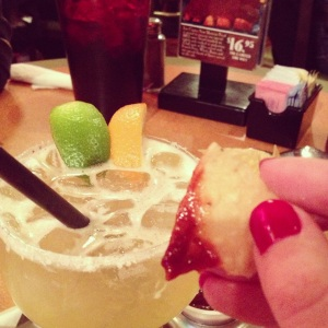Margarita & chips + salsa = Saturday evening perfection