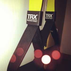 TRX on Sunday = a sore body on Monday and Tuesday.  And Wednesday, but who's counting days?