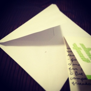 Handwritten thank you notes are always in style.