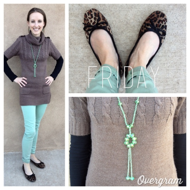 Mint and leopard - I love the combo.