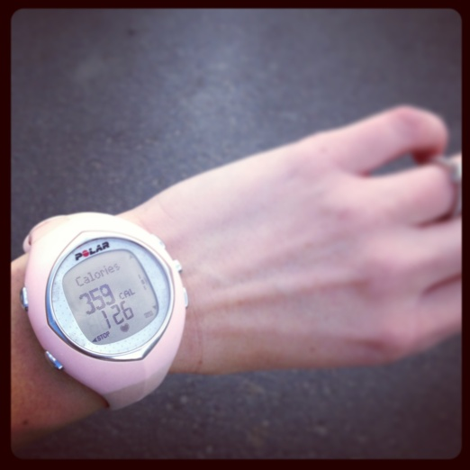 Why, hello Polar watch.  It has been awhile since I've brought you out to pass the time.