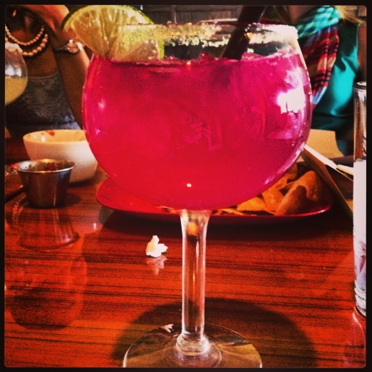 Prickly Pear margarita with my Junior League ladies.