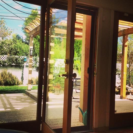 Door open.  Spring air, come inside!
