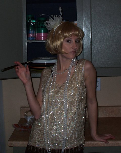 Flapperish for a '20's themed birthday party in February 2010.