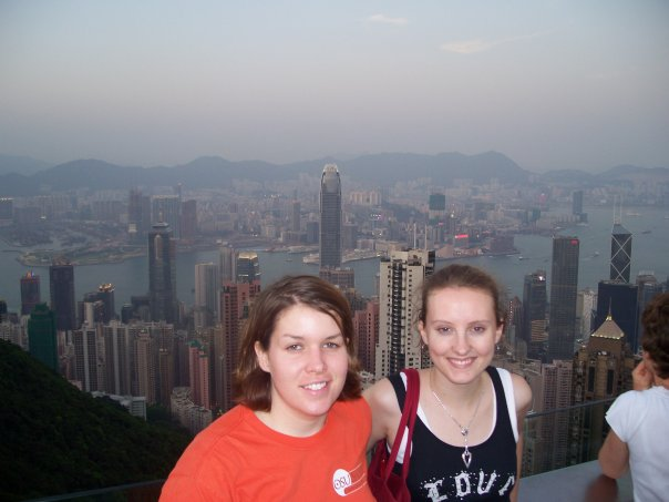 Amy Amy Hong Kong view from mountain