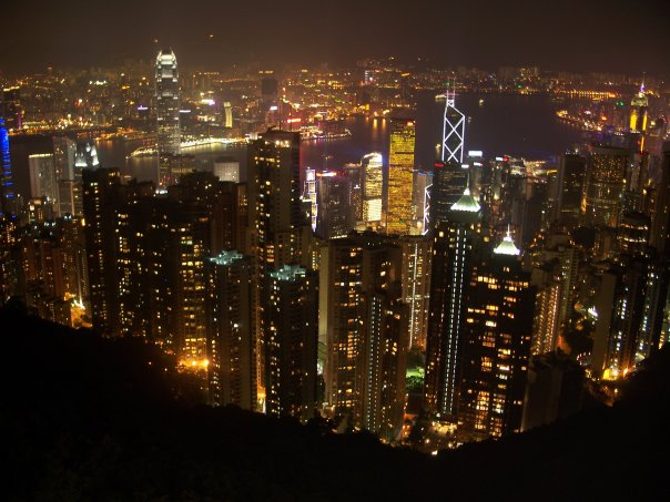 Hong Kong night view from mountain