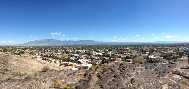 View from top of petroglyphs
